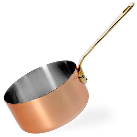 de buyer copper saucepan  brass handle inocuivre