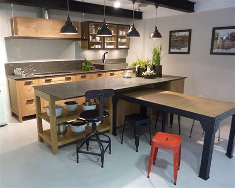 cuisine style industrielle cuisine sur mesure style industriel traditionnel ou contemporain