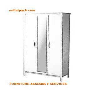brusali wardrobe with 3 doors white unflatpack