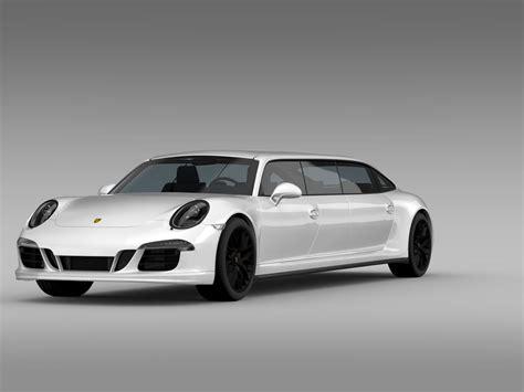 Porsche 911 Carrera 4 Gts Limousine 2018 3d Model Max