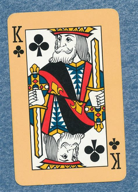 Clubs is one of the four suits of playing cards in the standard french deck. yellow back with a big 4 playing card single swap king of clubs - 1 card | Playing cards, Card ...