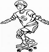 Skateboard Coloring Pages Printable Boy Coloring2print sketch template