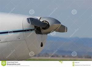 Aircraft Nose And Propeller Royalty Free Stock Photos