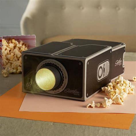 proyektor smartphone portabel cardboard  brown