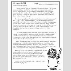 Greek Mythology God & Goddesses Close Reading Passages By Free To Teach