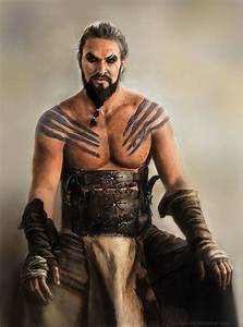 Portrait of Jason Momoa as Khal Drogo (Game of Thrones) on ...