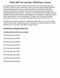 2007 Mercedes Benz Ml320 Repair Manual Online By