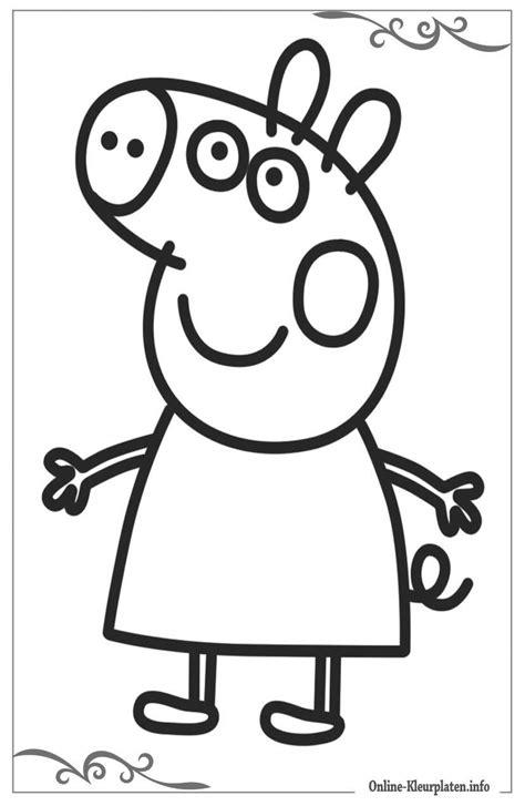 Kleurplaat Peppa Pig Printen by Peppa Pig Gratis Te Printen Kleurplaten Beste Kleurplaten