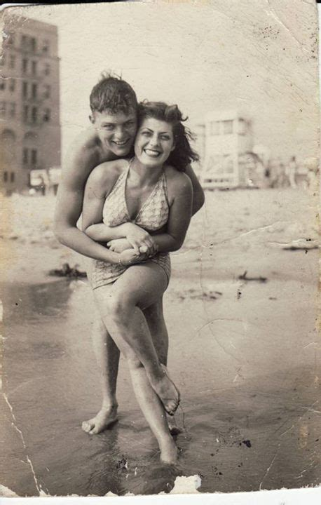 Vintage Photo Couple On The Beach Vintage Couples Pinterest Walt Whitman Summer And Love