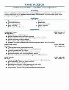 Hostess resume best template collection for Hostess resume examples