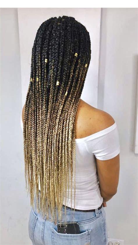 totally chic  colorful box braids hairstyles  wear
