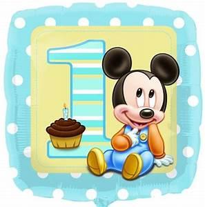 Baby Mit 1 Jahr : micky maus baby zum 1 geburtstag folien luftballon mit helium lu luftballon mickey baby ma 2308101 ~ Markanthonyermac.com Haus und Dekorationen