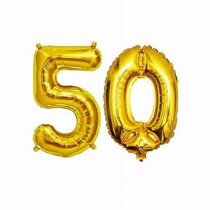 50th Balloons Birthday Number Decorations Ballons Balloon