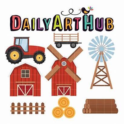 Farm Equipment Clip Hub Transportation Vehicles