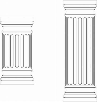 Column Pillar Greek Clipart Marble Architecture Clip