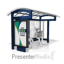 id  bus stop display custom powerpoint animation