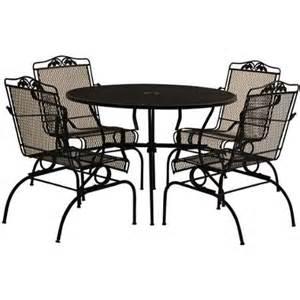 arlington house 5 piece action patio dining set charcoal