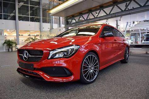 Red And Ready To Go. The Mercedes-benz Cla 250 Sport