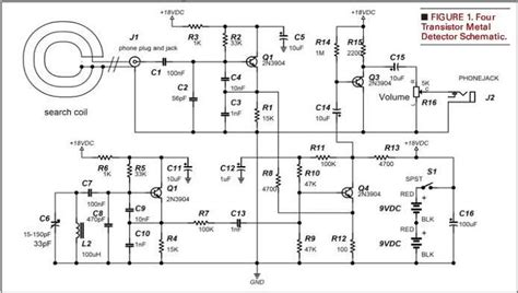 metal detector circuit diagram free projects to try metal