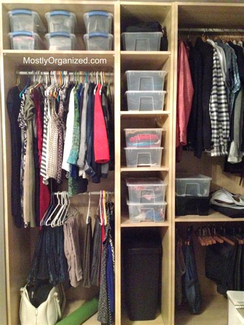 the best way to use your closet mostly organized