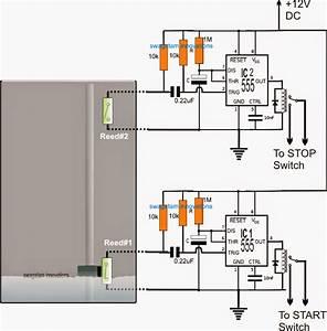 Borewell Motor Pump Starter Controller Circuit
