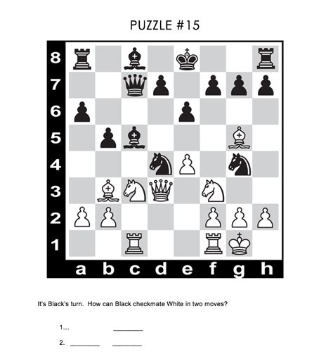 mate in two chess puzzle from the match curriculum student