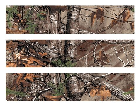 real tree realtree camo edible cake strips cake topper