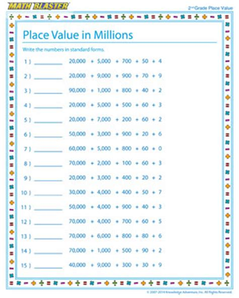 math place value worksheets numbers place value free