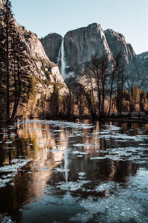Yosemite April Gushing Waterfalls Peaceful