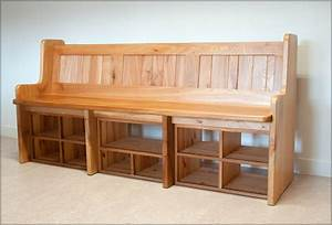 Build Entryway Bench With Back — STABBEDINBACK Foyer