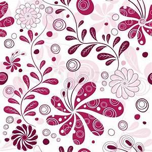 weiss und lila muhelos florale tapete mit blumen vektor With balkon teppich mit florale tapete