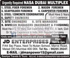 Nasa Dubai Multiplex Large job Opportunities - Gulf Jobs ...
