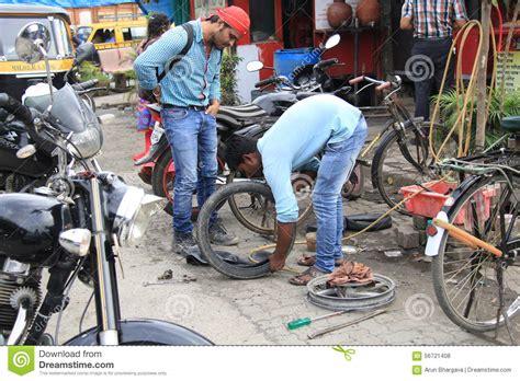 Road Side Puncture Repair Editorial Stock Photo