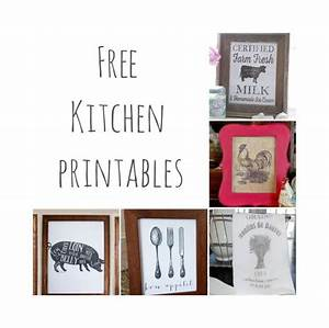 Free kitchen printables farmhouse decor the