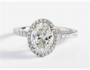 blue nile studio oval cut heiress halo diamond engagement With oval cut wedding rings