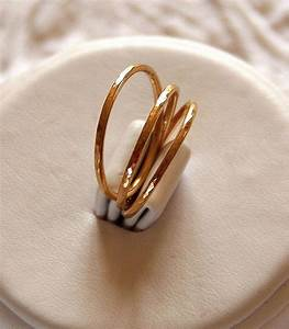 14k gold filled hammered stackable stacking rings or With stacking wedding rings