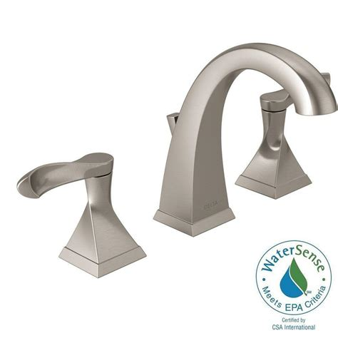 Delta Silverton Widespread Faucet by Delta Silverton 8 In Widespread 2 Handle Bathroom Faucet