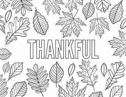 Coloring Thankful Pages Printable Thanksgiving Word Grateful