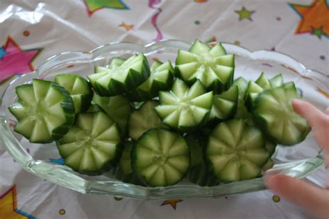 Fancy Cucumber Slices Cucumber Food Garnishes Food