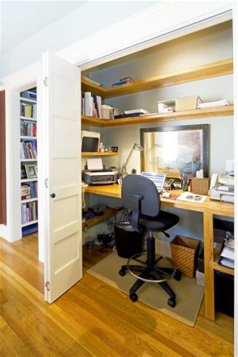convert a closet into a office details