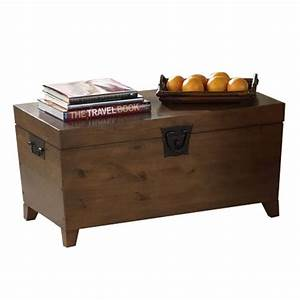 trunk style coffee table with a tapered silhouette and With trunk type coffee tables