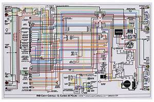 Wiring Diagram  1968 Chevelle  El Camino  11x17  Color