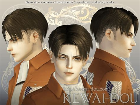 kewai dou levi shaved  sims  custom content sims