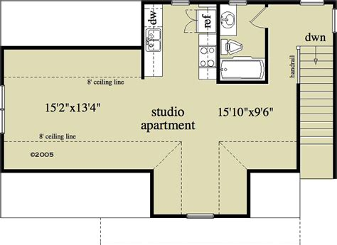 detached garage floor plans 1 bedroom 1 bath country house plan alp 096u