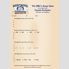 Bbc's Easter Quiz  Brentwood Brewing Company