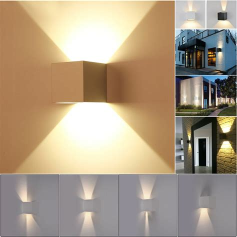 new 7w modern led wall light up cube indoor outdoor
