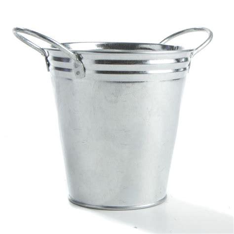 galvanized metal bucket kitchen  bath home decor