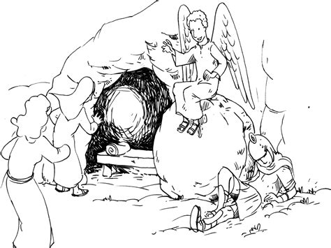 la pierre roulee la resurrection de jesus mt
