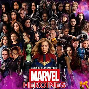 9, Super, Heroines, Of, Marvel, Comics