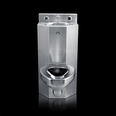 prison toilet and sink vanity basin and toilet in one piece stainless steel